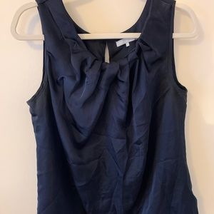 Violet & Claire navy sleeveless keyhole top size L